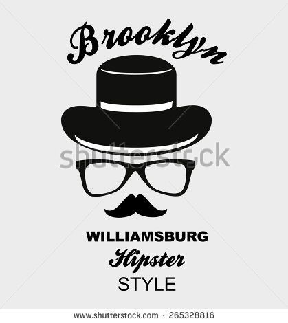 brooklyn hipsters graphic design vector art