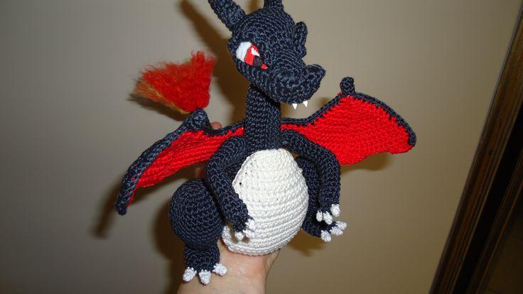 Amigurumi Pokemon Charizard : Mega Charizard Y Mias Atelier crochet amigurumi ...