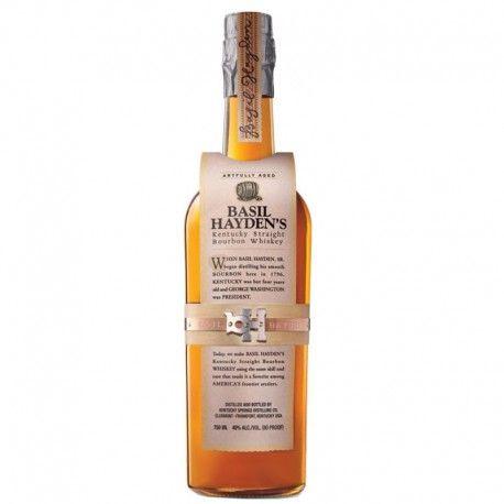 El whiskey Basil Hayden's  es un 'high rye Bourbon', la proporción de centeno…