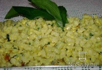 Medvehagymás-tojásos galuska