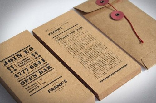 Lettersize invite on craft paper (pinned for image, does not link directly to invite)