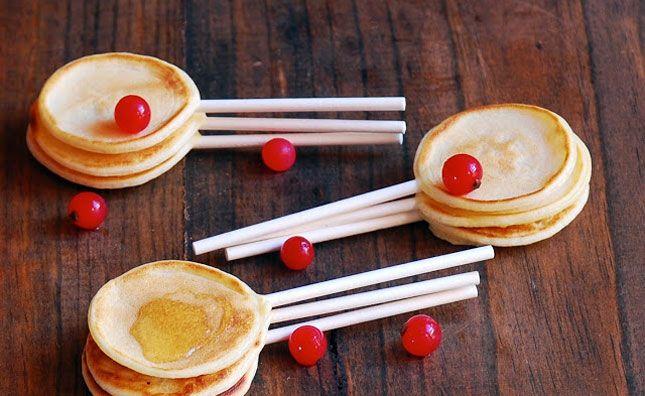 SÜSS! Pfannkuchen am Stiel x3 100 Dinge, die du am Stiel servieren kannst …   – XD !