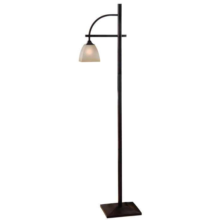 Elegantly Simple, This Floor Lamp Is Topped By A Beautifully Unique Square  Glass Shade With Softened Edges. Great For Chair Side Reading Or General  Room ...