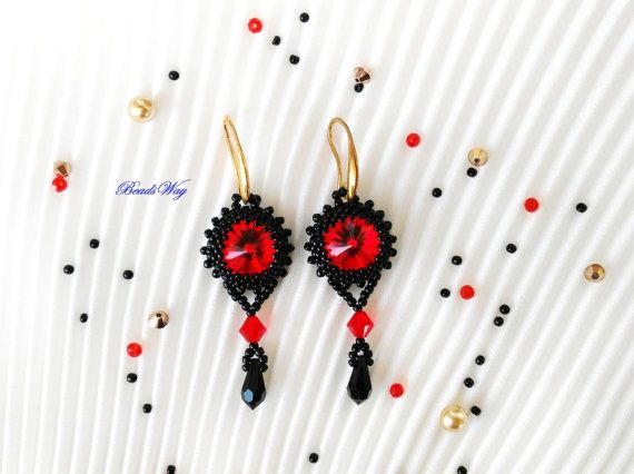 Earrings of beads and Cristall Swarovski di BeadsWay su Etsy