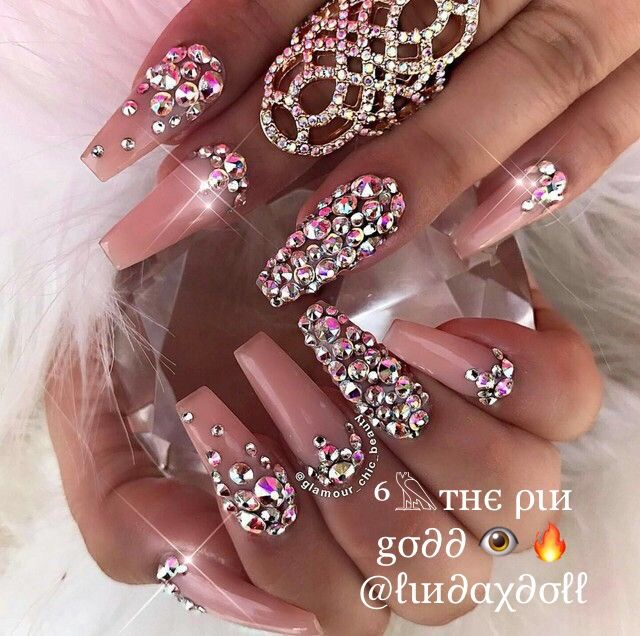 25+ best Bling nail art ideas on Pinterest | Bling nails, Nail designs bling  and Coffin nail designs - 25+ Best Bling Nail Art Ideas On Pinterest Bling Nails, Nail