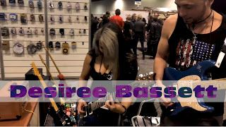 Desiree Bassett: with Mike Kerr at the Joyo booth - NAMM 2018    Mike Kerr: I had the pleasure and honor to meet and jam a couple times with the fantastic Desiree Bassett! This was the first one at the Joyo Booth at Namm 2018. I hope you guys enjoy it as much as we did! Thank you for watching! If you like the please please share/comment/like. Thank  Desiree bassett and Mike Kerr at the Joyo booth - Namm 2018  Desiree Bassett