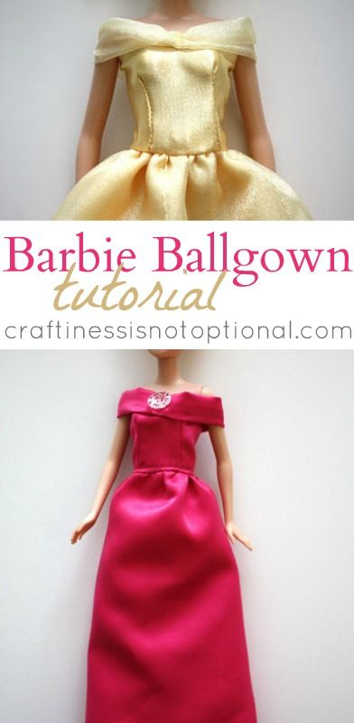 Barbie Ballgown Tutorial by Craftiness Is Not Optional - the girls would love these for Christmas!