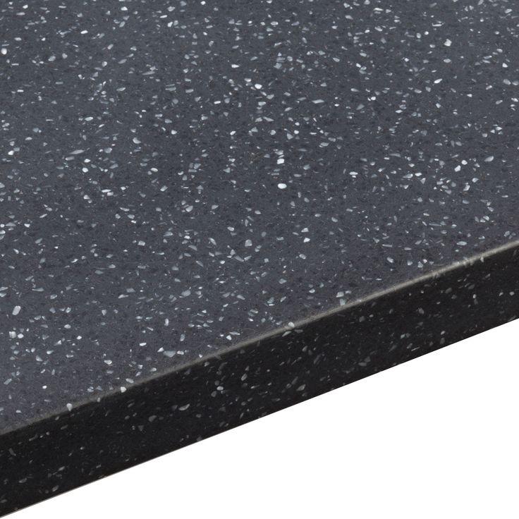 34mm Black Star Earthstone Round Edge Kitchen Worktop