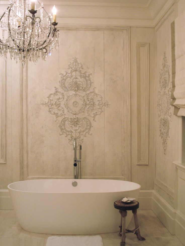 342 best artistic walls images on pinterest murals wall for French provincial bathroom designs