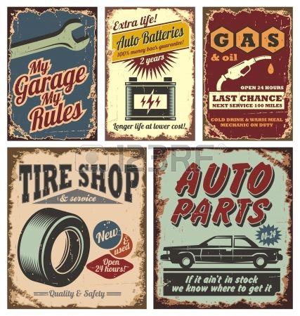 Vintage Garage Royalty-Vrije Foto's, Plaatjes, Beelden En Stock Fotografie