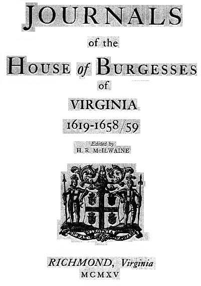 House of Burgesses -            List of members of the Virginia House of…