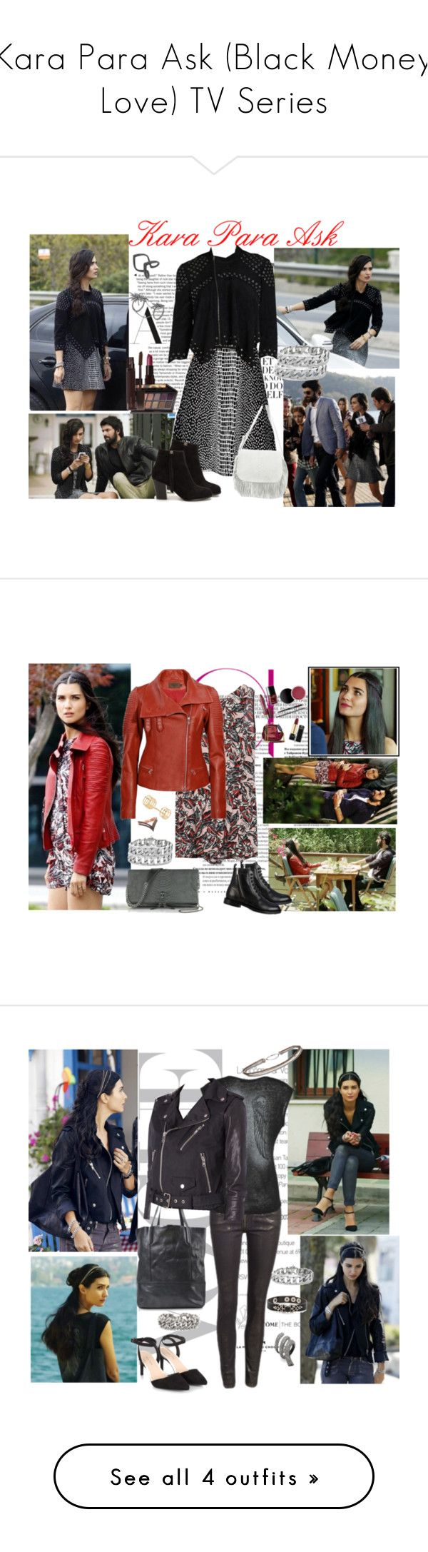 """""""Kara Para Ask (Black Money Love) TV Series"""" by chaneladdicted ❤ liked on Polyvore featuring Laura Mercier, BCBGMAXAZRIA, Nly Shoes, DESA, Zadig & Voltaire, Yves Saint Laurent, Morgan, Valentino and Hermès"""