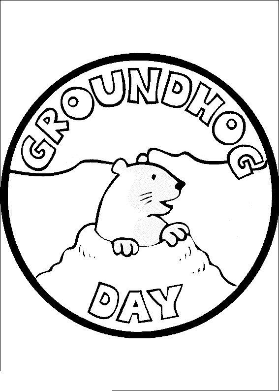 ground hog day color sheets