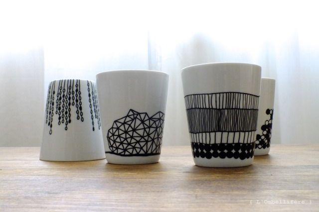 Décoration DIY de vaisselle par L'Ombellifère