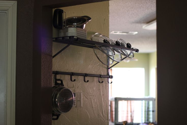 Ikea Portis shelf in the kitchen!