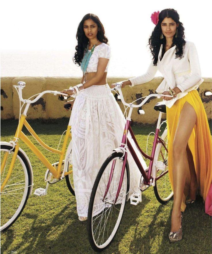 modelsofcolor:    Alyssah Ali & Jessica Clark for Vogue India, March 2012