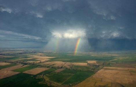 Photo: Rainbows seen near Great Falls, Montana.  National Geographics kids adventure trip.
