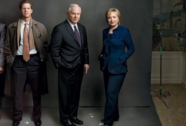 The Obama Cabinet, from left: SHAUN DONOVAN, housing and urban development; ROBERT GATES, defense; HILLARY CLINTON, secretary of state. Photo by Annie Leibovitz for Vanity Fair February 2009.