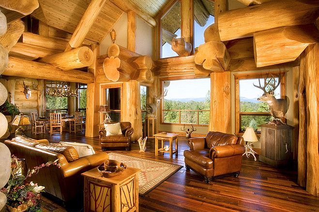 Oregon Log House Retreat House Of The Day Photos In