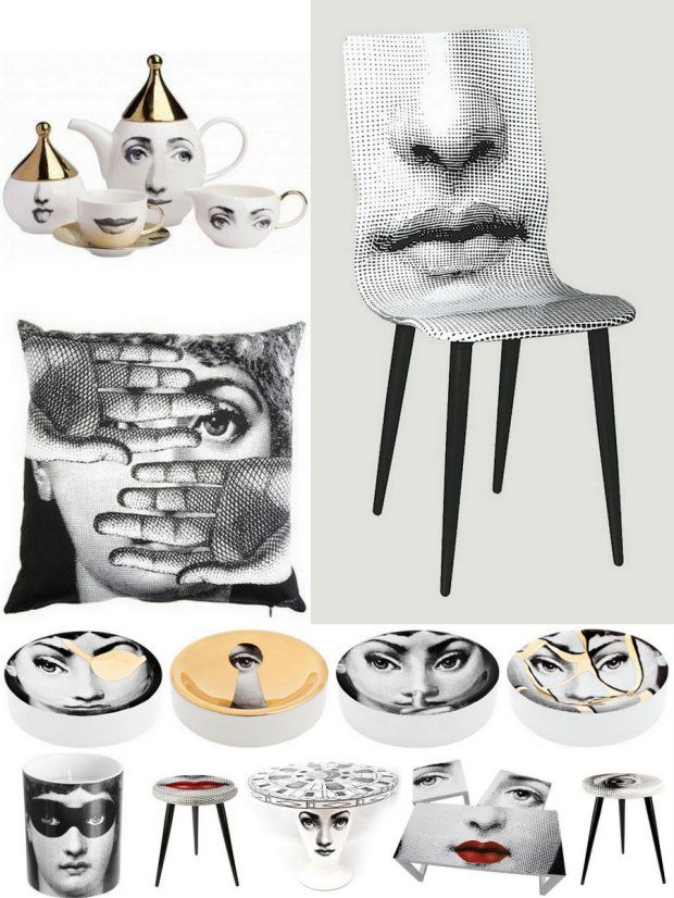 Furniture and deco by Fornasetti