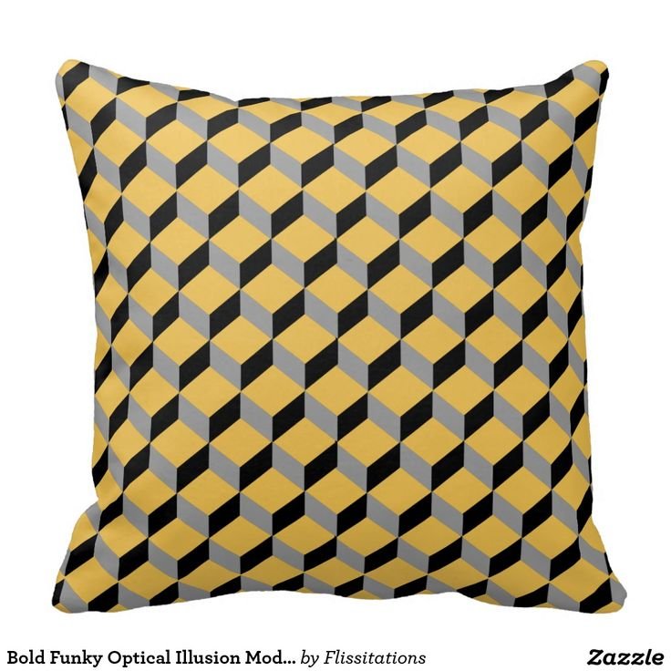 Bold Funky Optical Illusion Modern Patterned Cushions
