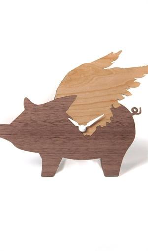 Flying Pig Wall Clock