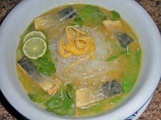 Chef JD's Noodle House Cuisine: Tapioca Thread Noodles in Lemongrass Galangal Coco...