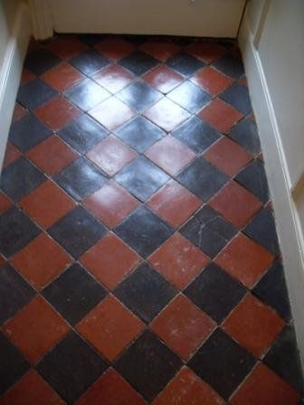 Quarry tile hallway