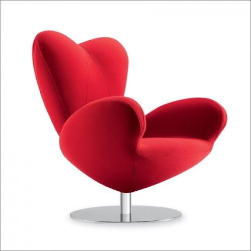 Tonon Heartbreaker Swivel Designer Lounge Chair  Award-winning large comfortable designer lounge armchair with heart-shaped back, large rounded armrests and seat padded with fireproof-injected foam.For more info contact us on: 01223 327463