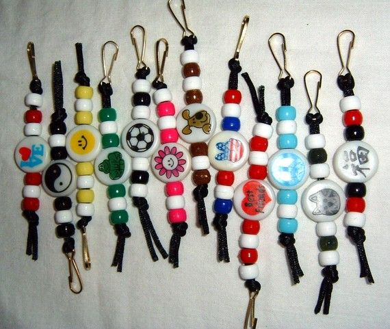 Pony Bead Keychain zipper pull by juanitascrafters on Etsy, $1.25