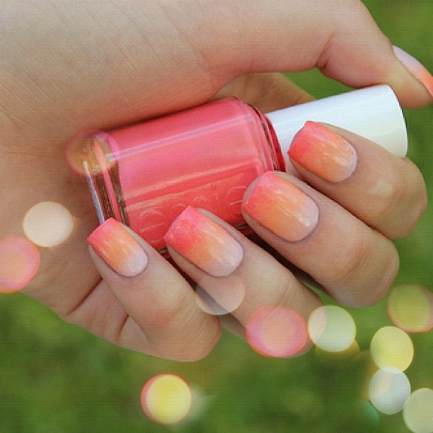 #ombre #nails #colors #fashion - @fashionstyle- #webstagram: Nails Art, Nails Design, Polish Nails, Pink Nails, Summer Nails, Orange Nails, Gradient Nails, Nails Ideas, Nails Polish