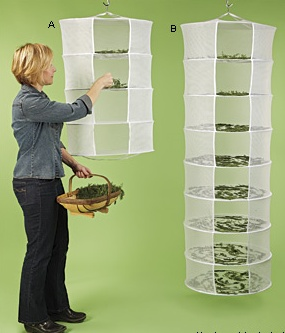 Herb Dryer--this would be a lot more practical than my current nothing system...