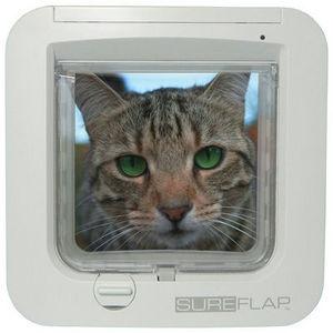 La chatière SureFlap Microchip agit comme une clé électronique.   En effet, cette chatière électronique ne laisse passer que votre compagnon, grâce à des capteurs elle reconnait la puce d'identité de votre chat, tout en bloquant l'accès aux chats errant ou aux chats de votre quartier qui ne sont pas enregistrés. Il n'y a donc plus besoin de mettre de collier à votre compagnon qui pourrait se perdre ou s'accrocher.