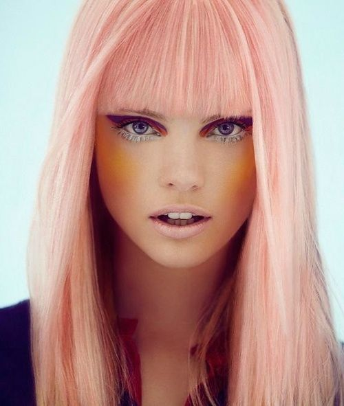 Pastel coral hair! (definitely a dream, but oh if orchetra personnel managers would accept it!)