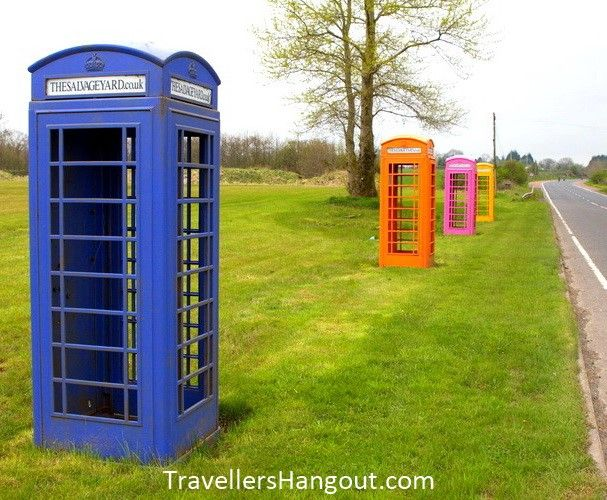 Phone boxes near Belfast International Airport