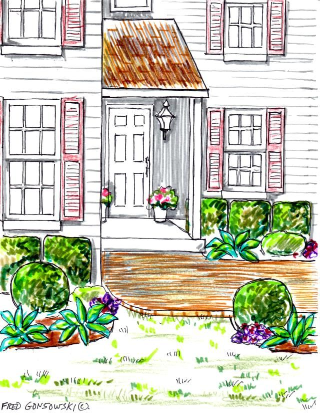 HOW TO: Planting foundation plants on both sides of your front sidewalk leading from your front door to your driveway
