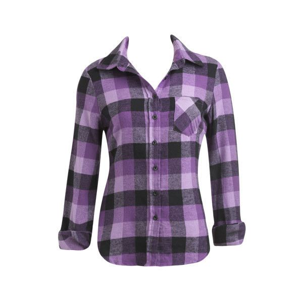 Plaid Flannel Shrit - Teen Clothing by Wet Seal ($4) ❤ liked on Polyvore - Best 25+ Purple Plaid Shirt Ideas On Pinterest Purple Outfits