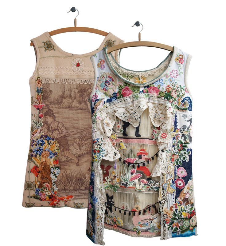 childhood dreams, dress with hand embroidery. Alexandra Drenth. Textile artist in Amsterdam -Netherlands