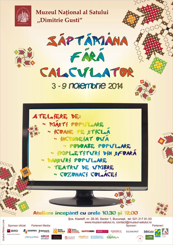 Saptamana fara calculator