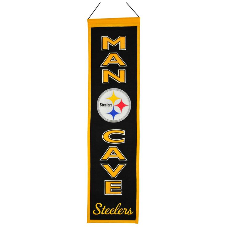 Winning Streak Refurbished NFL Pittsburgh Steelers Man Cave Embroidered Banner