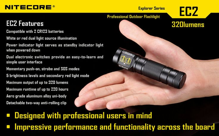 Features CREE XP-G (R5) LED Maximum output of up to 320 lumens High efficiency constant current circuit enables maximum run time of up to 220 hours 5 brightness levels Momentary push-on strobe and SOS modes Dual electronic switches ensure very easy user interface. Plus more... #hidcanada