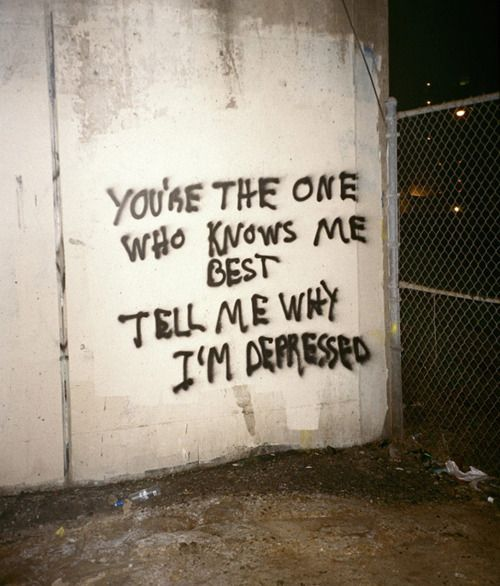 Graffiti Sad Quotes: Pin By Republic Of You On Sadness & Strength