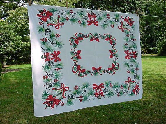 Pine Cone Tablecloth 54