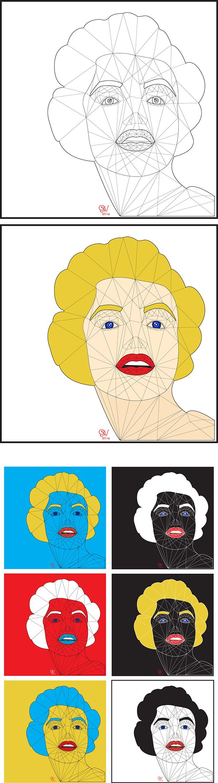 Marilyn Monroe vector Art Ed/