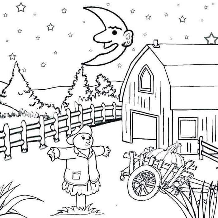 Pumpkin Patch Coloring Pages Halloween Coloring Pages