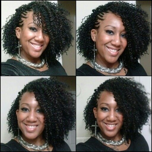 Loving my hair!!!!!!....,Crochet Braids with french braids on the side #LoveMyStylist:)