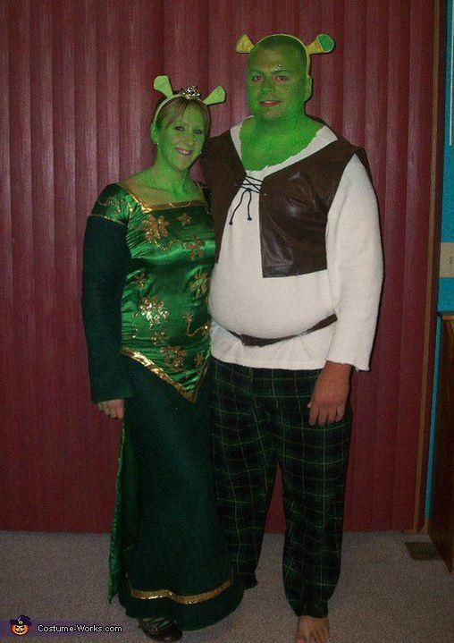 Shrek & Fiona - Homemade costumes for couples #halloween #costume