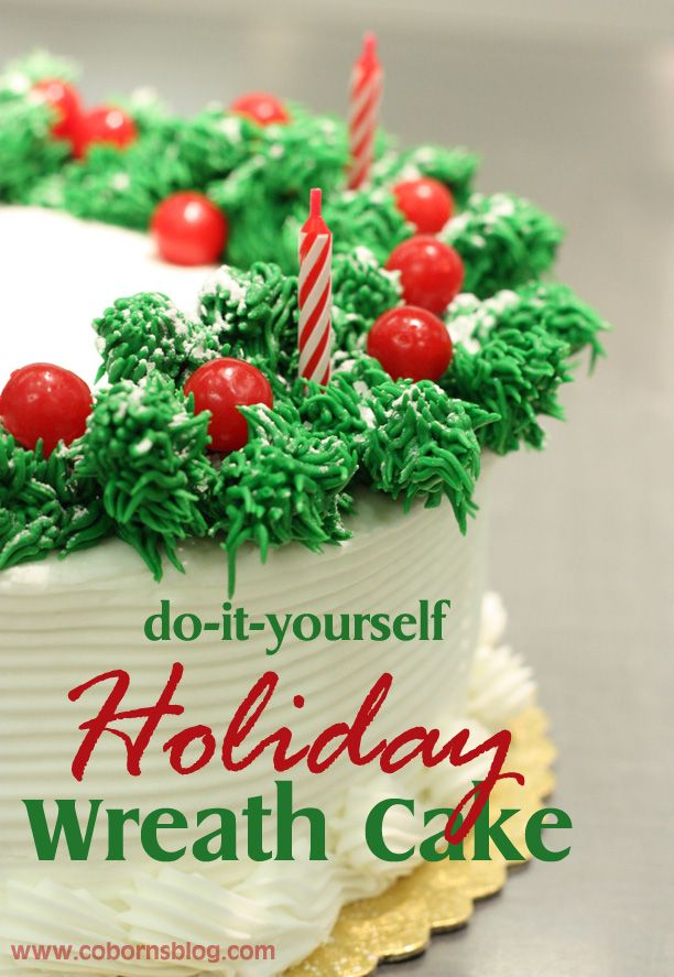 1079 best christmas treats images on pinterest biscuits xmas cobornsblog diy holiday wreath cake solutioingenieria Gallery