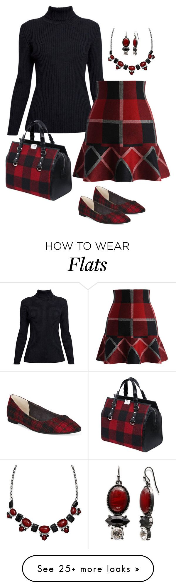 """Classy in Plaid"" by alara-cary on Polyvore featuring Rumour London, Chicwish, Dsquared2, Mixit and BC Footwear"
