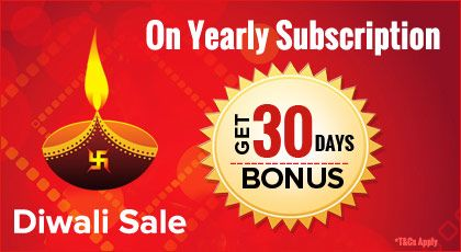 Diwali Sale at YuppTV for UK customers with 1 month extension on Yearly subscription